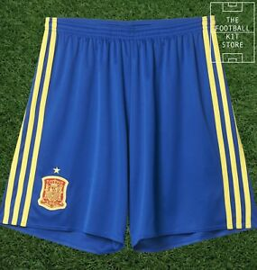 Spain-Home-Shorts-Official-adidas-Football-Shorts-Mens-All-Sizes