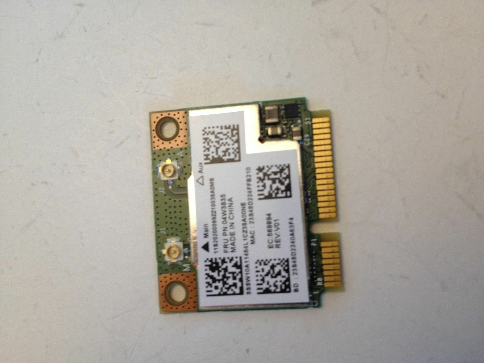 Lenovo ThinkPad X131e X140e Chromebook WiFi Wireless Card 04W3835 TESTED GOOD