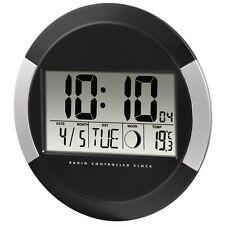 Reloj de Pared Digital Calendario Temperatura Interior Fase Lunar Oficina Casa