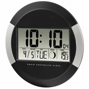Le Meilleur Reloj De Pared Digital Calendario Temperatura Interior Fase Lunar Oficina Casa Pour Revigorer Efficacement La Santé