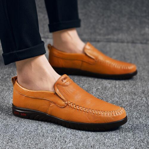 Men/'s Driving Moccasin Chaussures Cuir Escarpins mocassins Flats Slip on Respirant Chic