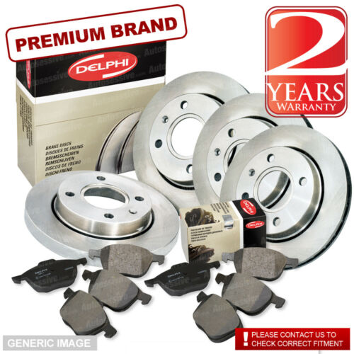 Lexus IS200 2.0 Front Rear Pads Discs Set 296mm 307mm 153BHP 12//05 1G-Fe Estate