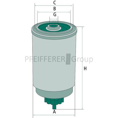 MANN-Nr WK842//2 FF5135 Fleetguard-Nr Kraftstofffilter pas f