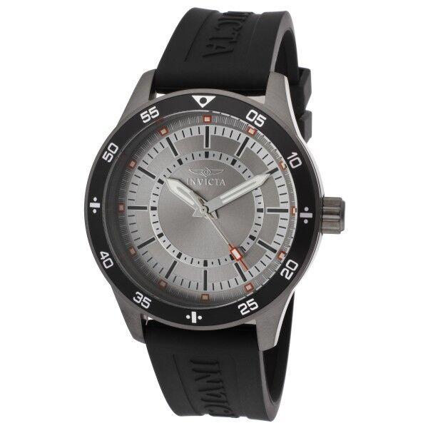 Invicta Specialty Men's Black Gunmetal Case with Grey Dial Watch 14337