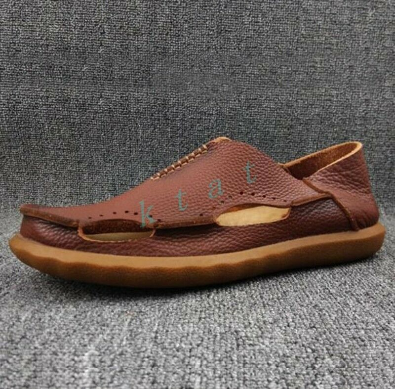 Gladiator Uomo Retro Pelle Comfy Shoes Cut Out Roman Summer Sandals Hot