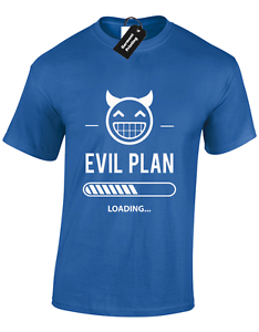 EVIL PLAN NOW LOADING KIDS CHILDRENS T SHIRT NEW FUNNY CUTE DESIGN FOR BOYS TOP