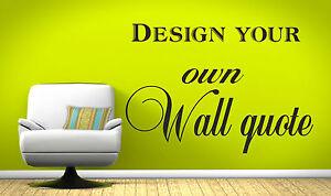 Detalles De Crea Tu Propio Decoración Pared Diseño Frase Muraladhesivopegatinadecoración