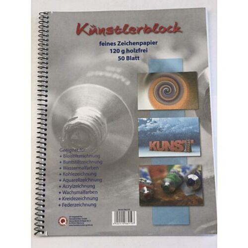 holzfrei 50 Blatt mit Spirale Künstlerblock DIN A4 120g//qm
