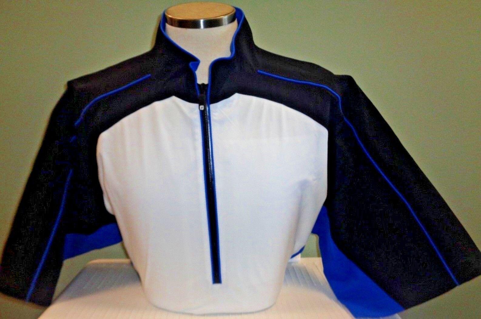 Nuevo para hombre Footjoy Dryjoys S S Tour colección chaqueta de lluvia, blancoo Negro, Elige Tamaño