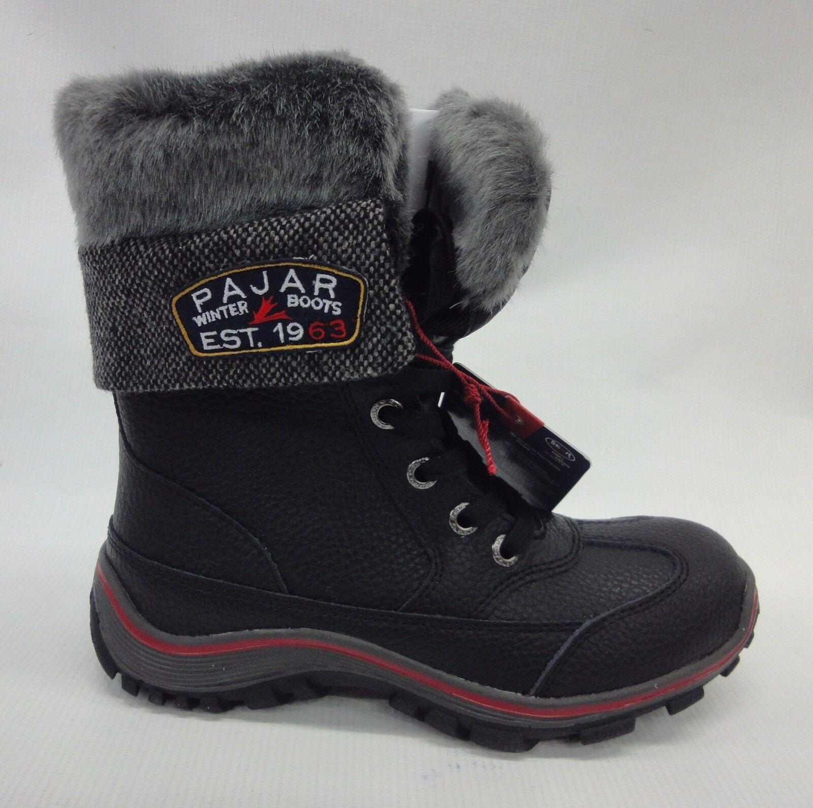 Pajar Womens Alice Boots F15/44438 Black Size 9-9.5 US/40-EU