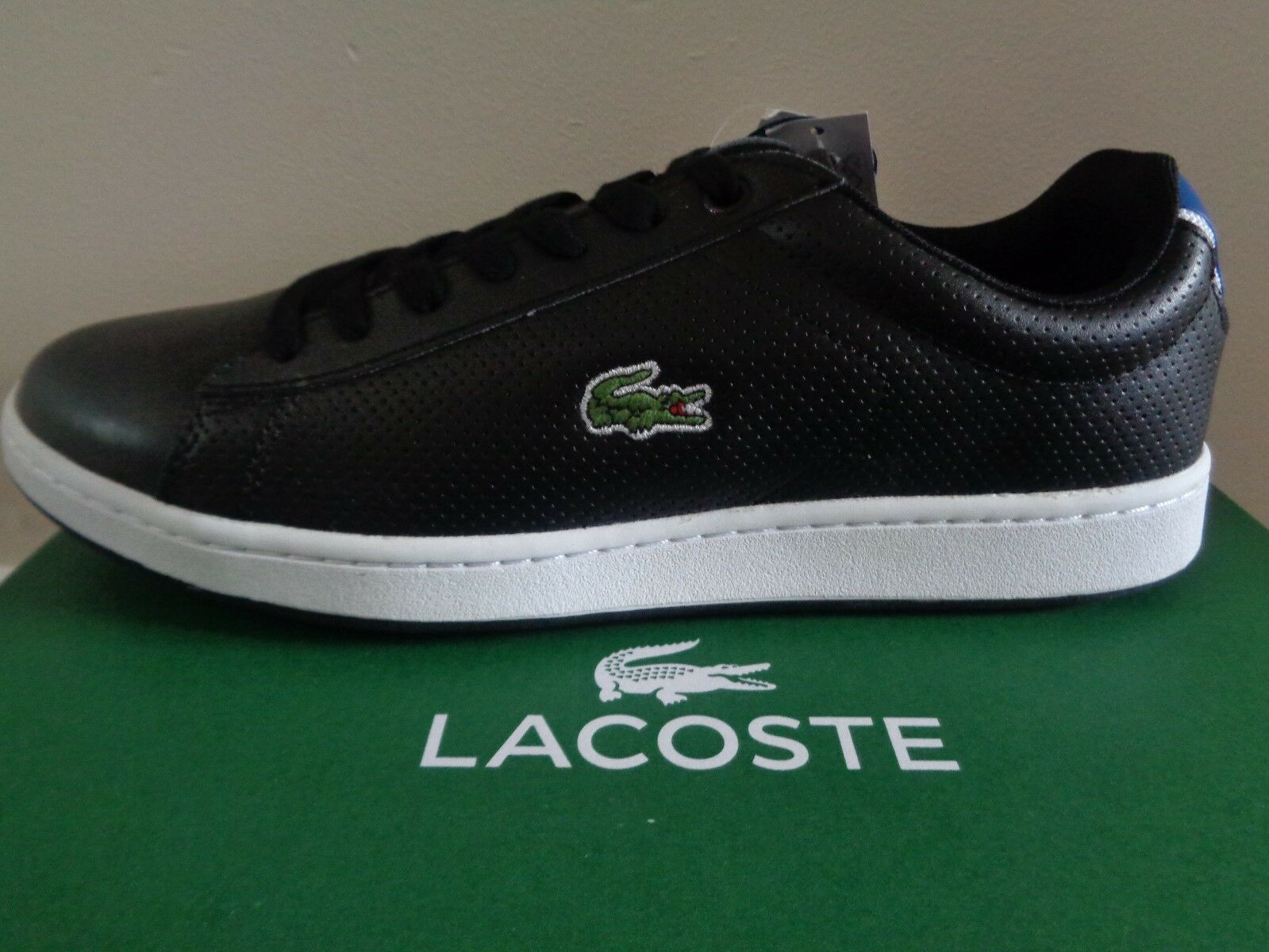 Lacoste Sport Carnaby EVO NTE SPM Hombre Negro Zapatos trainers trainers Zapatos sneakers NEW+BOX fdaf39