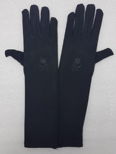 Ladies Long finger Black Gloves elbow stretch to Hand Cover for Islamic Sisters