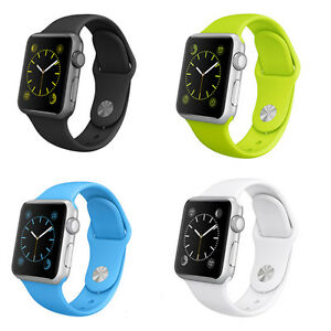Link-Strap-Bracelet-Band-Silicone-Fitness-Replacement-For-Apple-Watch-38-42mm-UK