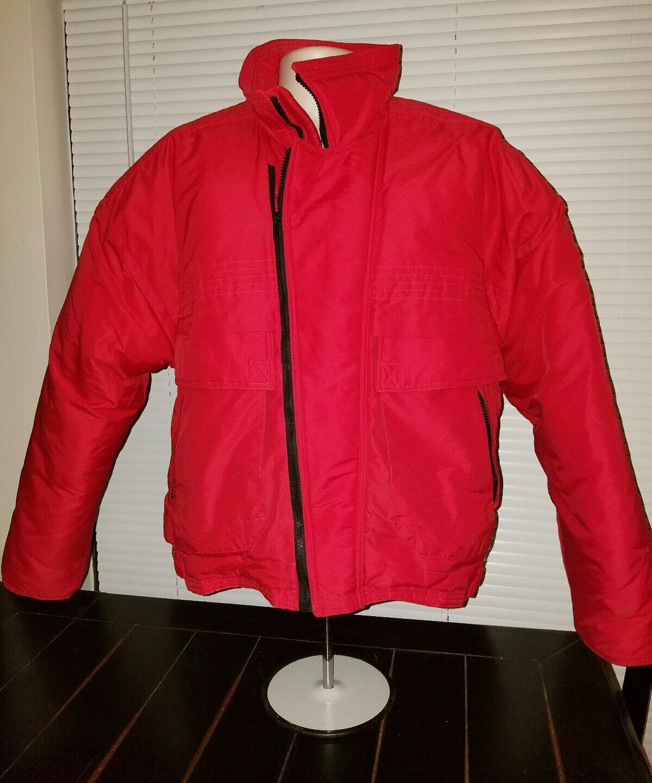 Hardy Amies London Red Ski Coat  w  Collar. Medium for Men.
