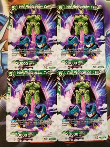 Vile Replication Cell 4x EX03-15 NON-FOIL Dragon Ball Super PLAYSET