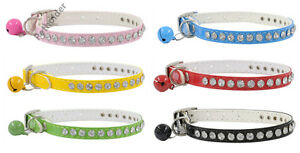 Wholesale lot 24 Bling dog collar crystal diamonds cat puppy pet pu leather