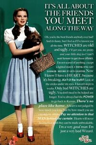 WIZARD-OF-OZ-FRIENDS-QUOTE-POSTER-24x36-DOROTHY-MOVIE-51150