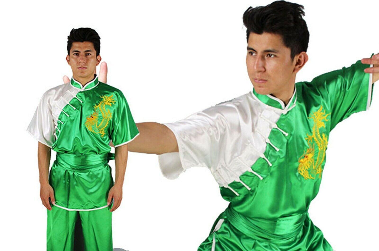 Uniforme Uniforme Uniforme Kimono KUNG FU Divisa Chang Quan Uniform Shan XI drago Grün East Grün a24eea