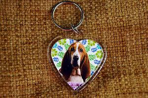 Basset-Hound-Keyring-Dog-Key-Ring-heart-gift-Birthday-Gift-Xmas-Mothers-Day-Gift