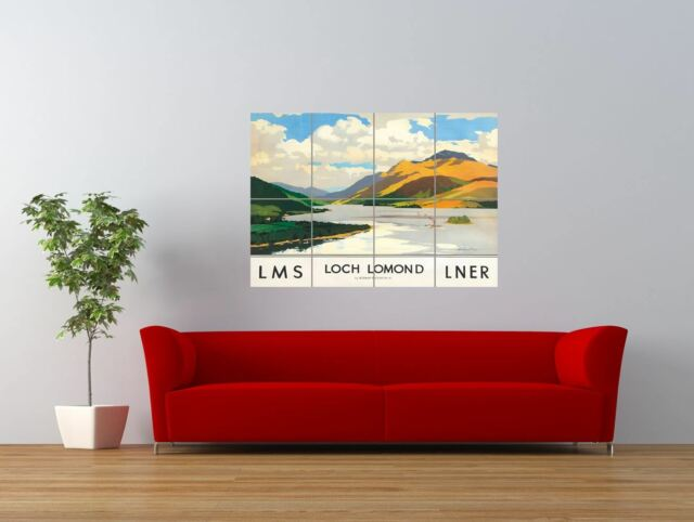 SCOTLAND LOCH LOMOND RAIL Poster Travel Canvas art Prints Kunstplakate Kunst