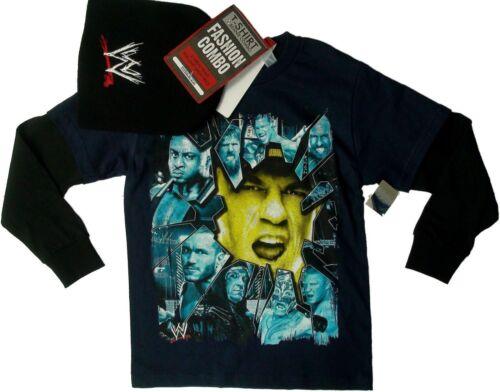 WWE John Cena t-Shirt with Beanie Set 4-5 XS 6-7 S 8 M 10-12 L14-16 XL Child New