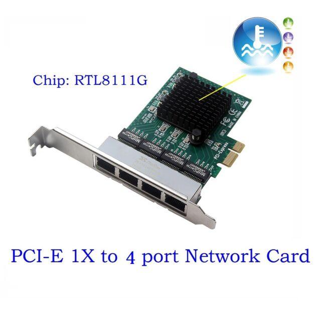 2 Port 1000Mbps PCI express Network Card PCIe 1x Gigabit Server Adapter P3Q5