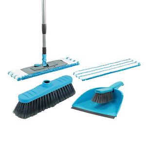 4 in 1 Microfiber Mop Floor Brush Dustpan Set Kitchen Broom