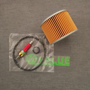Oil-Filter-amp-Spark-plug-For-KAWASAKI-EX250R-NINJA-250-ZZR250-EL250-GPX250-GPZ250