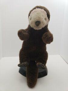 Dakin-Otter-Puppet-Hand-Full-Body-Plush-Stuffed-Animal-18-034-Vintage-1995-Brown