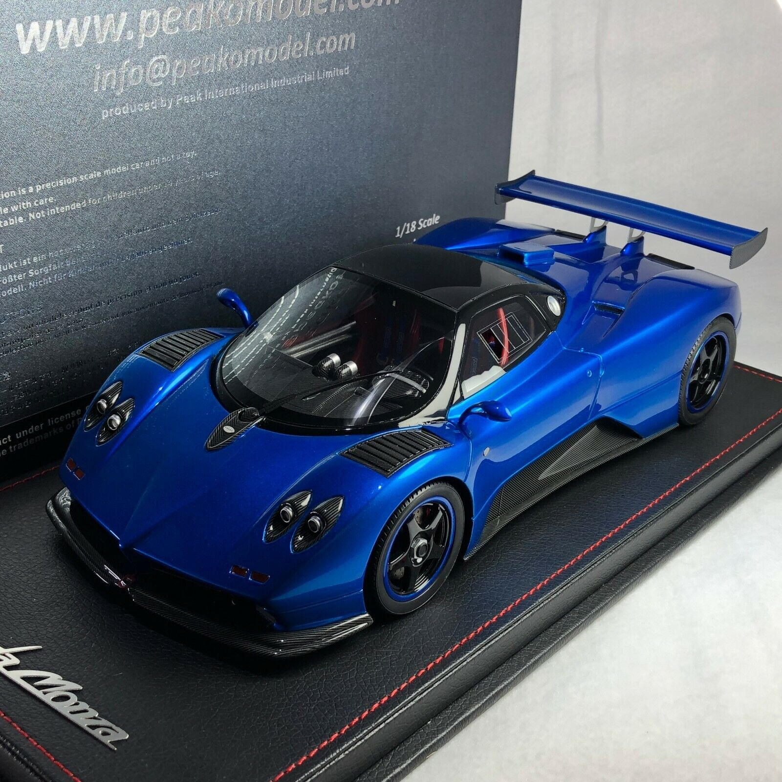 1   18 18 18 peako Pagani zonda C12 Monza azul Metal Co. 64d