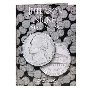"FOLDER NEW WITH FREE SHIPPING!! H.E HARRIS /""2681/"" JEFFERSON NICKEL 1996"