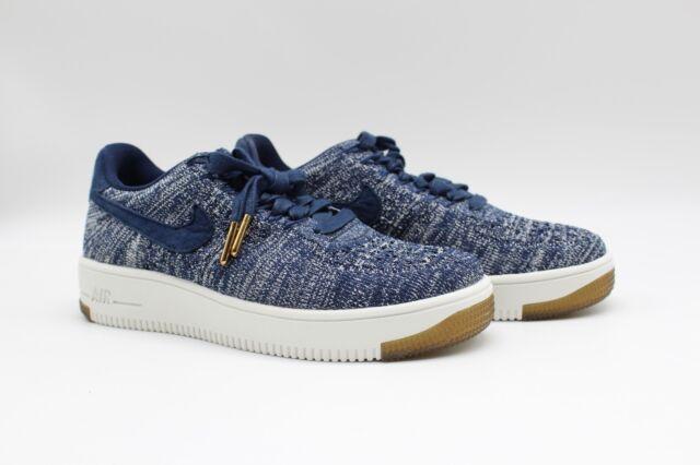 sale retailer c6852 95b0b Nike Women's Air Force 1 Low Flyknit Blue White 820256-402
