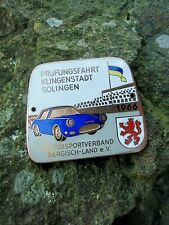 RARE vintage ORIGINAL german Sports Car Race Badge City of Blades Solingen 1966