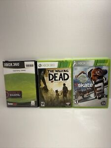 Xbox 360 lot of 3: Dead Rising, Skate 3, Walking Dead  Untested