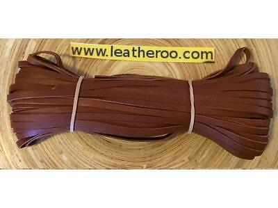 "Wdth 10meter hank 3//16/"" Kangaroo Lace SADDLE TAN Kangaroo Leather Lacing 4.7mm"