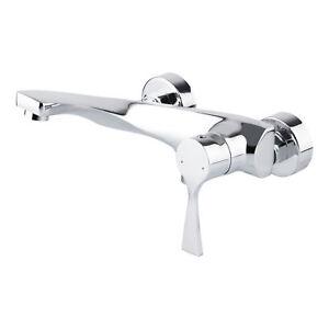Modernes Design Chrom Badewannen Armatur Wasserhahn Einhebel Mischbatterie NEU !