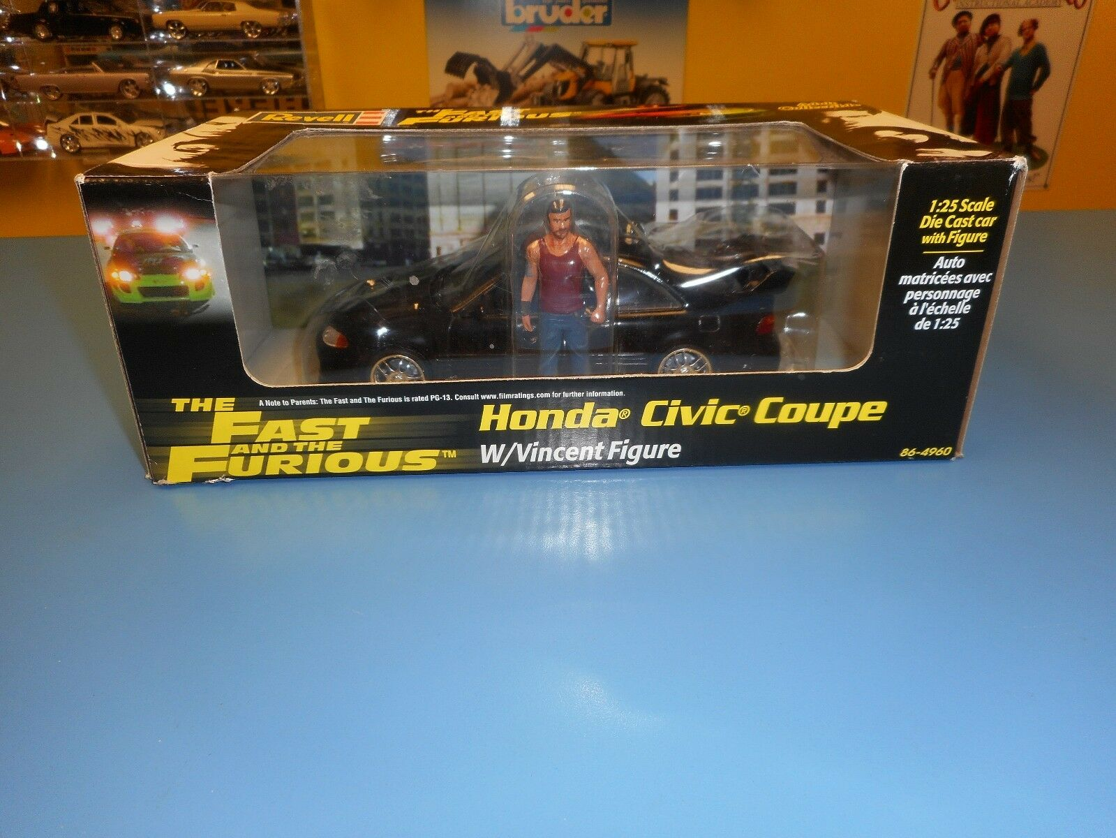 REVELL The Fast & the Furious Honda Civic coupé avec Vincent Figure New in Box