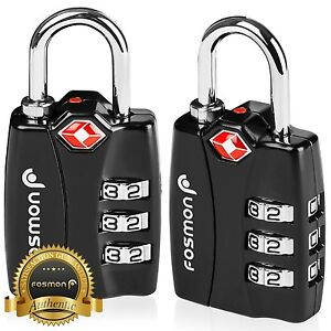 2xTSA Approve 3 Digit Combination Travel Suitcase Luggage Bag Lock Padlock Reset