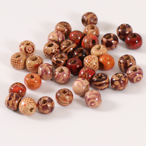 Details About 100pcs 9x10mm Mixed Wooden Beads For Diy Jewelry Making Necklace Bracelets