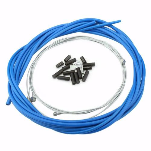 Bike Front Rear Brake Cable Mountain Bicycle Brake Cable with Housing Set Blue