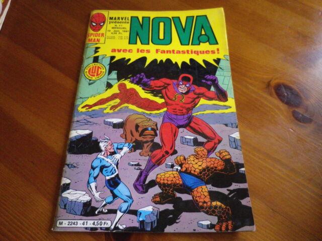 NOVA n° 41 de 1981 SPIDER MAN - SPIDER WOMAN - LES FANTASTIQUES TBE comme neuf.