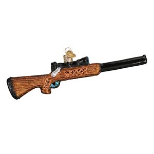 034-Rifle-034-36228-X-Old-World-Christmas-Glass-Ornament-w-OWC-Box