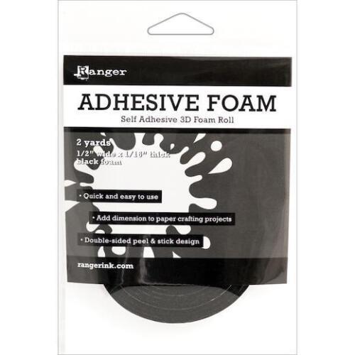 "Ranger Adhesive Foam Roll 1//2/""x1.16/""x2yd Black"
