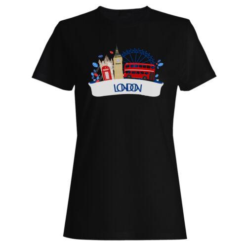 Nouveau Beau London England Femmes T-shirt//Débardeur m484f