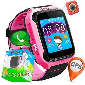 sitio de buena reputación 6404c 8f7ce Detalles de SmartWatch para Niño Niña Reloj Inteligente GPS Camara Juegos  Alarma Naranja