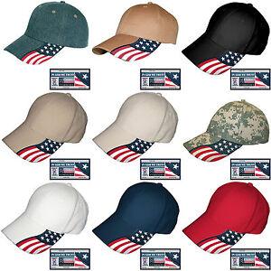 USA-Flag-Hat-Rockpoint-Freedom-Baseball-Cap-Adjustable-Patriotic-9-Cotton-Colors