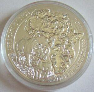 Ruanda-50-amafaranga-2012-Wildlife-rinoceronte-1-Oz-plata