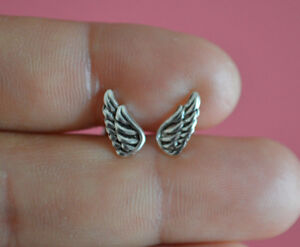 925-Sterling-Silver-Tiny-Stud-Post-Angel-Wings-Earrings-Angel-Wings-Earrings