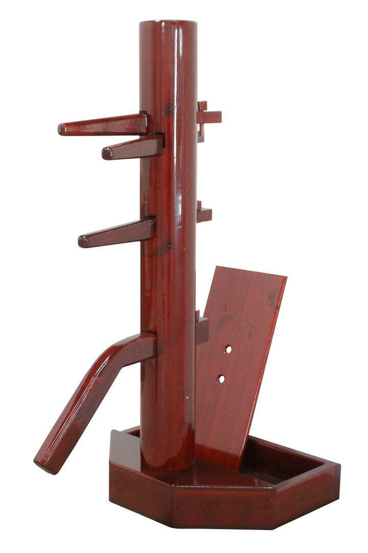 Wing Chun Wooden Dummy with Base Cherry-Farbeed With Form And Cover