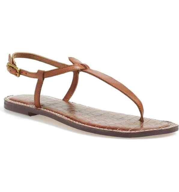 Sam Edelman Gigi Brown Leather Sandal